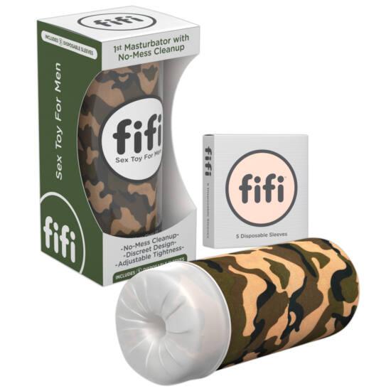 FIFI - maszturbátor mandzsettával (terepmintás)