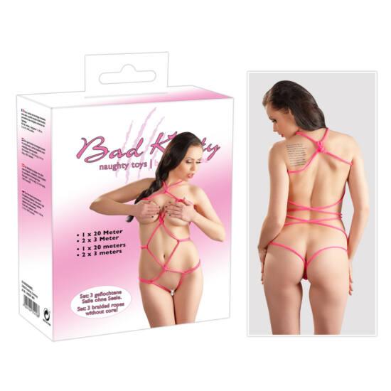 Bad Kitty - bondage kötél szett (pink)