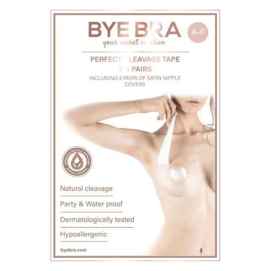 Bye Bra Perfect A-F - láthatatlan mellemelő tapasz - nude (6 pár)