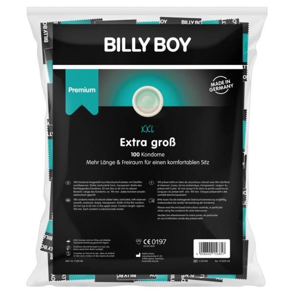 Billy Boy XXL - 62mm, extra nagy óvszer (100db)