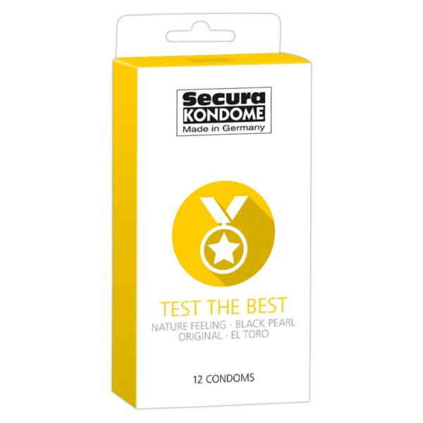 Secura Test the Best - óvszer válogatás (12db)