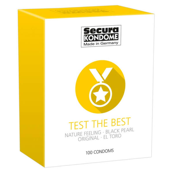 Secura Test the Best - óvszer válogatás (100db)