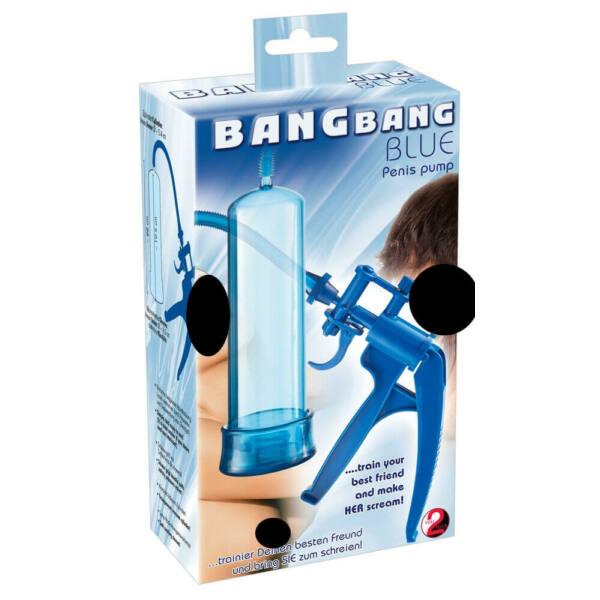 You2toys Bang Bang - ollós péniszpumpa (kék)