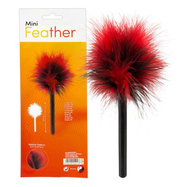 You2Toys Mini - valódi toll cirógató (fekete-piros)