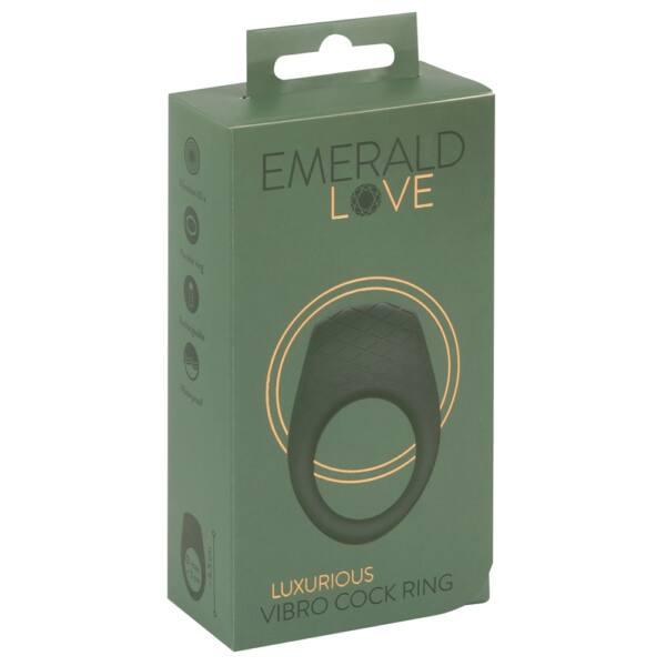 Emerald Love - akkus, vízálló vibrációs péniszgyűrű (zöld)