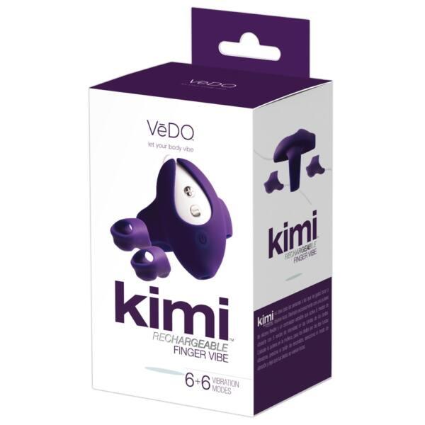 VeDO Kimi - akkus dupla ujjvibrátor csuklópánttal (lila)