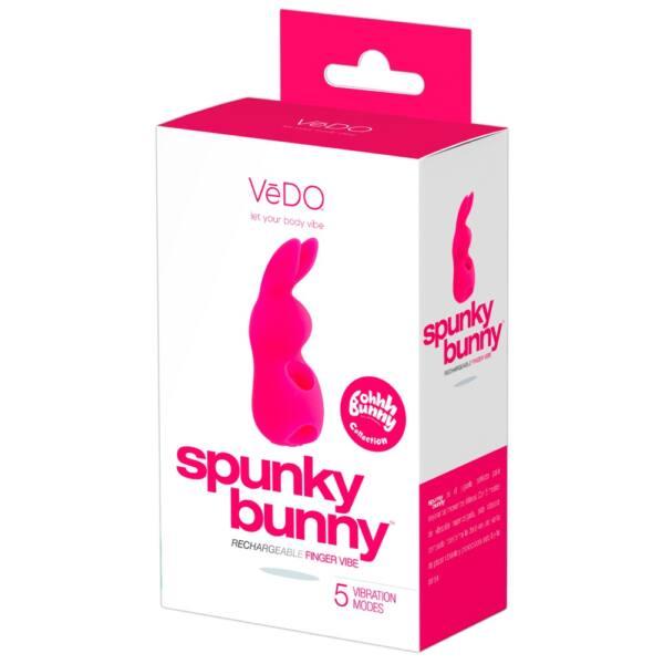 VeDO Spunky Bunny - akkus, nyuszis ujjvibrátor (pink)