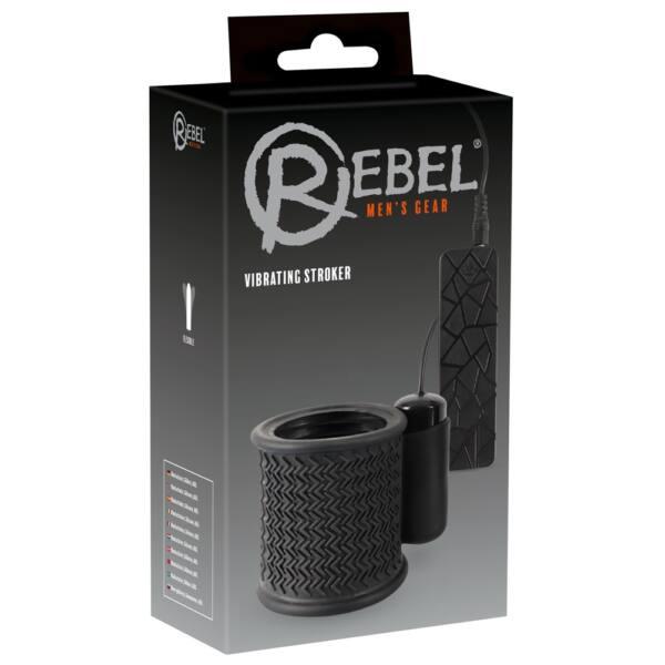 Rebel Stroker - lécrezgető péniszmandzsetta (fekete)