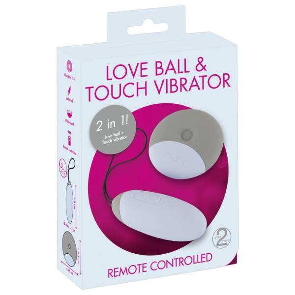 You2Toys Love ball - akkus, 2in1 vibrációs tojás (szürke)