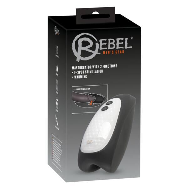 Rebel Heating - akkus, vízálló, melegítős makk vibrátor (fekete)
