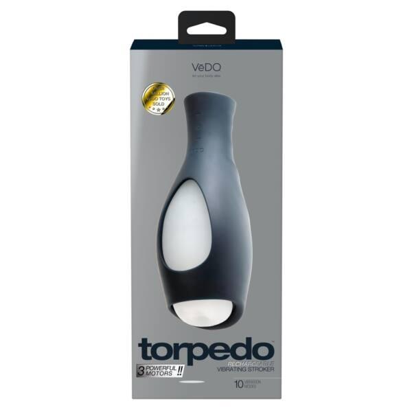 VeDo Torpedo - akkus, vízálló, rezgő maszturbátor (fekete-fehér)