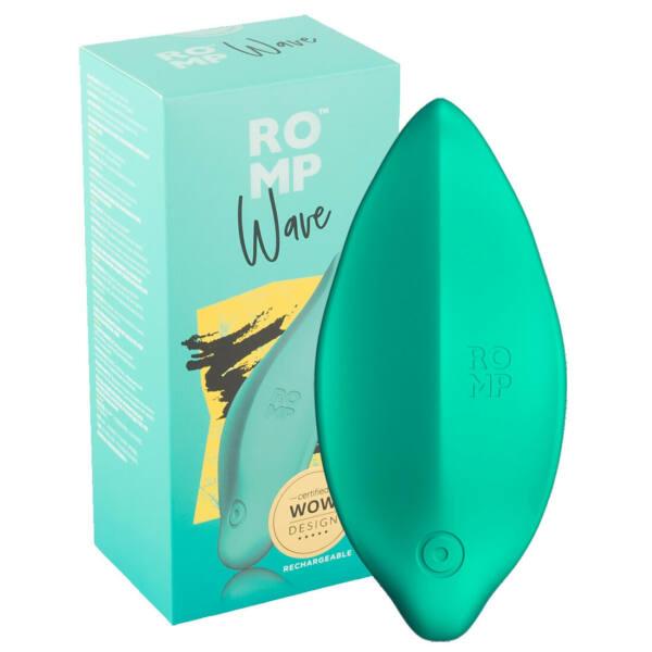 ROMP Wave - akkus, vízálló csiklóvibrátor (zöld)