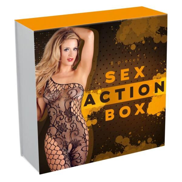 Sex Action Box - vibrátoros csomag pároknak (8 részes)