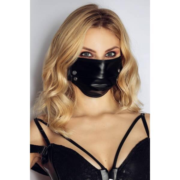 Noir - fényes maszk szegecsekkel (fekete)