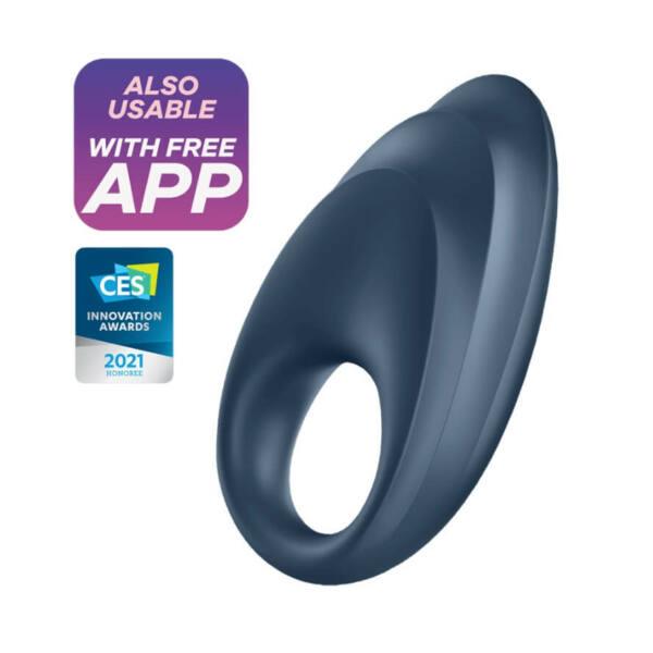 Satisfyer Powerful One - okos, akkus, vízálló péniszgyűrű (kék)
