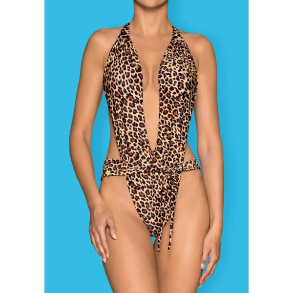 Obsessive Cancunella - nyakpántos trikini (leopárd)