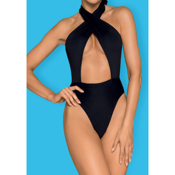 Obsessive Acantila - nyakpántos egyberészes fürdőruha (fekete)