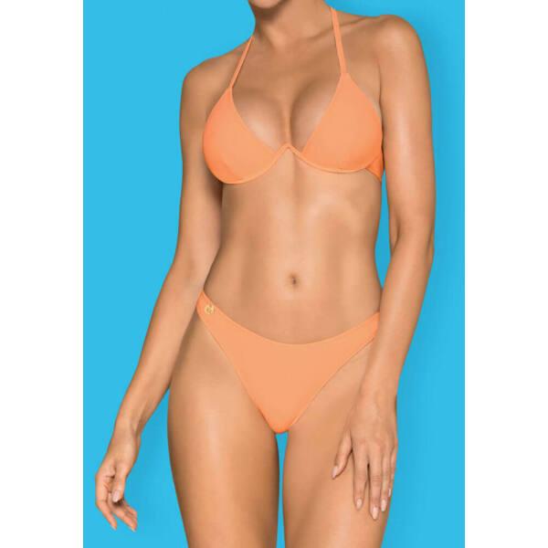 Obsessive Paralia - merevítős, nyakpántos bikini (korall)