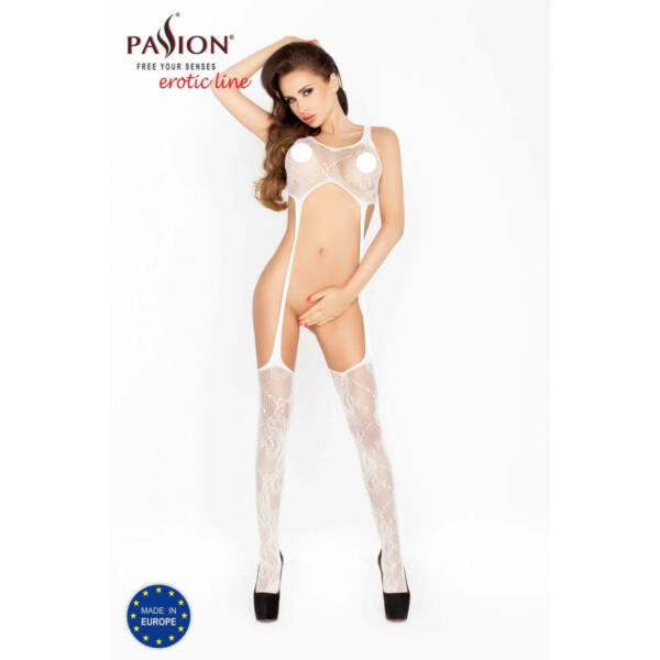 Passion BS016 - hullámmintás, minimalista necc szett (fehér) - S-L
