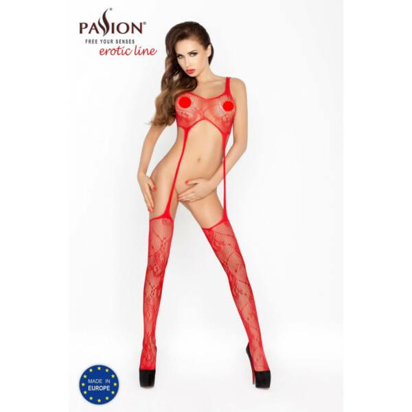Passion BS016 - hullámmintás, minimalista necc szett (piros) - S-L