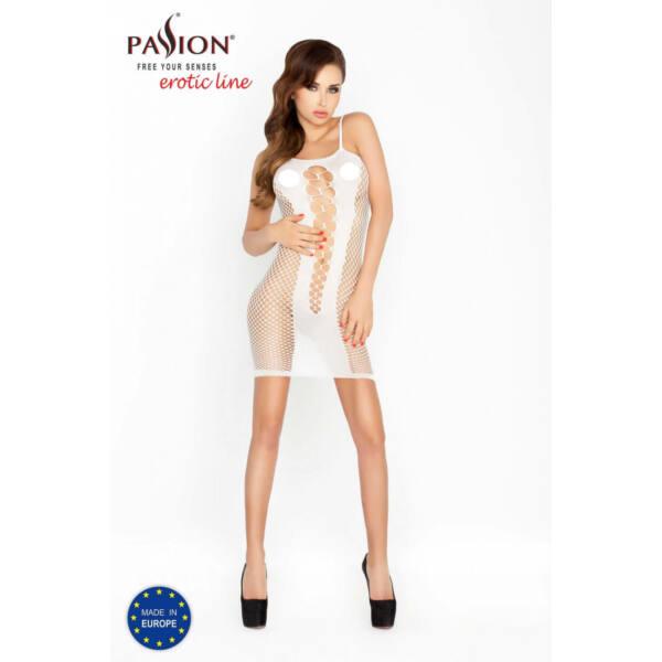 Passion BS027 - extrém hálós, necc miniruha (fehér) - S-L