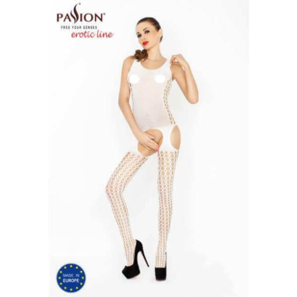Passion BS029 - oldalt lyukacsos necc szett (fehér) - S-L