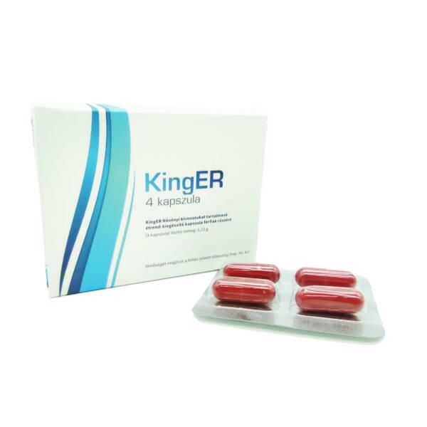 KingER - erős, étrend-kiegészítő kapszula férfiaknak (4db)