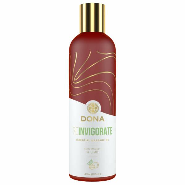 Dona Reinvigorate -  vegán masszázsolaj (kókusz-lime) - 120ml